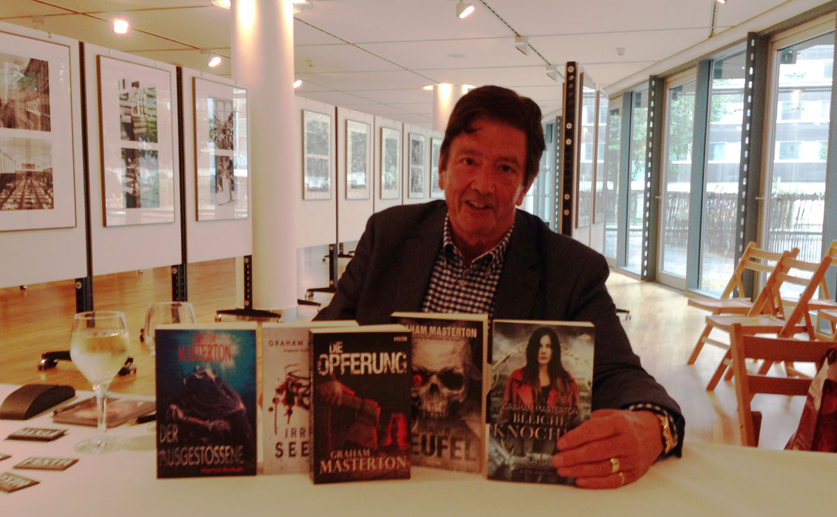 Graham Masterton auf der 13. ElsterCon, dem Science-Fiction-Treffen, in Leipzig