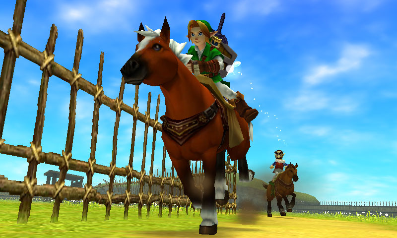 "Navi und Epona aus ""The Legend of Zelda: Ocarina of Time"