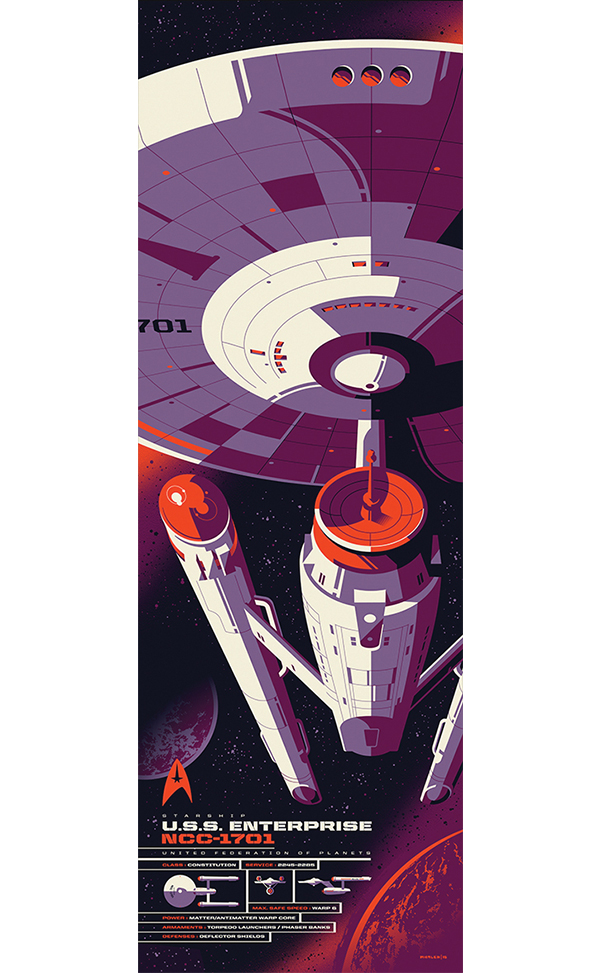 U.S.S. Enterprise Spec Sheet von Tom Whalen